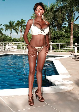 Ebony at Pool Pictures